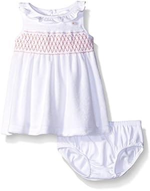 Baby Girls' White Swim Cover-Up