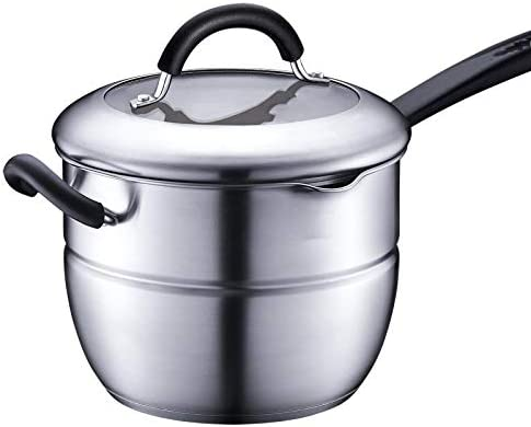 スープ鍋304のステンレス鋼の二重底はガスの電磁調理器が付いている多機能の鍋のミルクの鍋の汽船普遍的な、ステンレス鋼を厚くしました