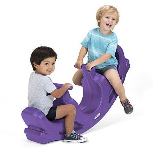 (Simplay3 Rock and Roll Teeter Totter Seesaw, Purple)