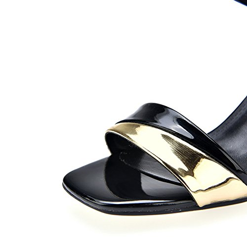 1TO9 Womens Cold Lining Non-Marking Soft-Toe Urethane Sandals MJS03195 Black HpWiLT