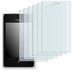 6x Golebo Semi-Matt protectores de pantalla para Nokia Asha 502 Dual SIM - (efecto antirreflectante, montaje muy fácil, removible sin residuos)