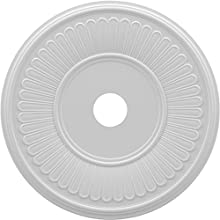 "Ekena Millwork CMP22BE Berkshire Thermoformed PVC Ceiling Medallion, 22""OD x 3 1/2""ID x 1""P, White"
