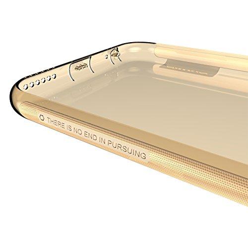 (HS-TOP  ® NILLKIN Conque Slim TPU case cover Hülle Handyschale Backcover für Apple iPhone 6 4,7 Zoll, braun