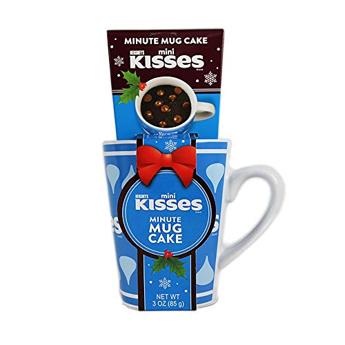 Hershey's Minute Mug Cake Gift Set with Mini Kisses Milk Chocolate Cake ()