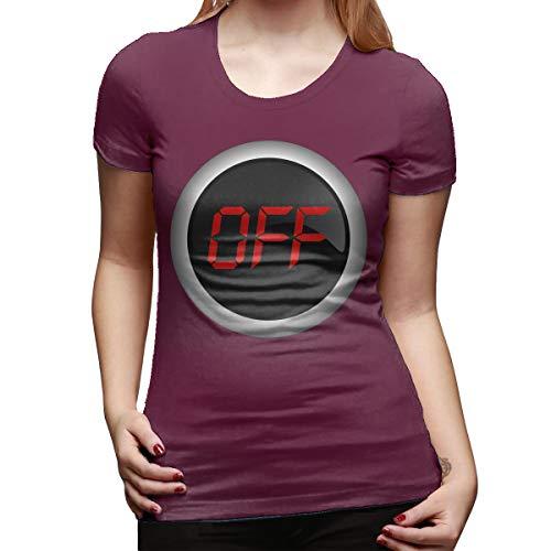 (Ida Piers Off Women's Short Sleeve T Shirt Color Burgundy Size)