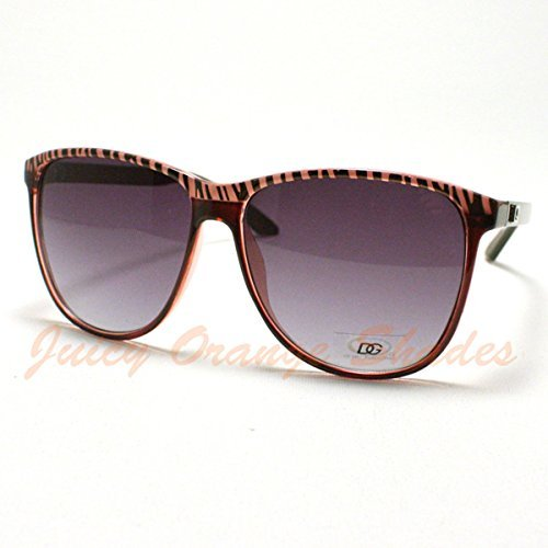 NEW ARRIVAL!!! LIMITED SALE!!!Women&apos-s RETRO Fashion ROUND DG Eyewear SuunnGllasses PURPLE ZEBRA Top - In Celebrities Sunglasses