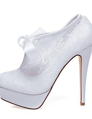 GGX/ Damen-Hochzeitsschuhe-Absätze-Sandalen-Hochzeit / Kleid / Party & Festivität-Weiß 5in & over-white