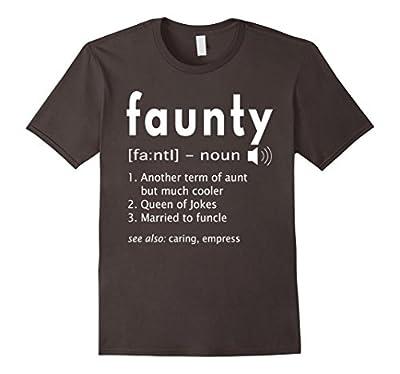 Womens Faunty Shirt Funny Aunt Definition T-Shirt Aunty Gift