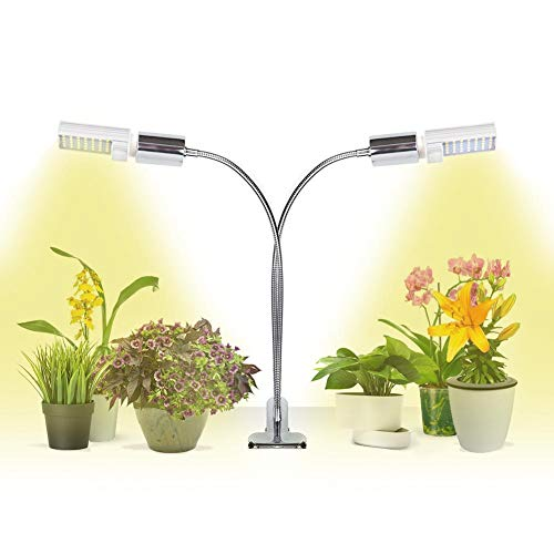 GIGRIN Grow Light for Indoor House Plant, Sunlike 45W Bright Plant Light Full Spectrum Growing Lamp with Replaceable Energy Efficient LED Bulbs, Wide Light Spread, Double Switch