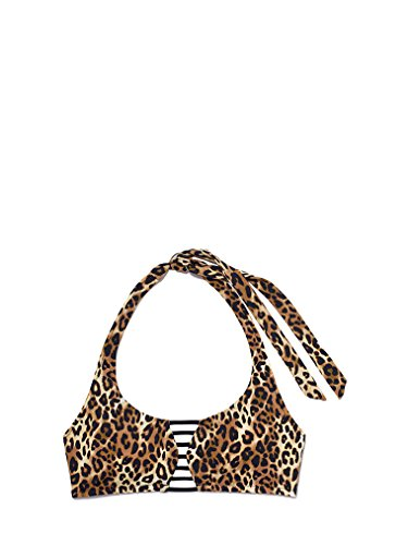 Victoria's Secret Swim Caged Halter Top Size X-Small (AA-B ) Leopard