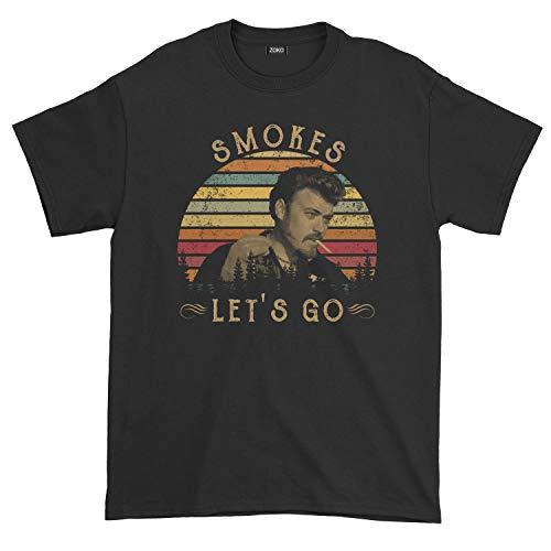 Men's Smokes Let's Go Vintage T-Shirt (L, Black)