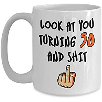 50th Birthday Gifts For Women Men Turning 50 Years Old Funny Coffee Mug Best Adult Fifty Present Party Cup Idea Mom Dad Wife Husband Nana Papaw