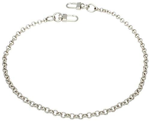 k-craft BS02 125cm Purse Metal Chain Strap Replacement Silver Crossbody Shoulder Strap Handbag