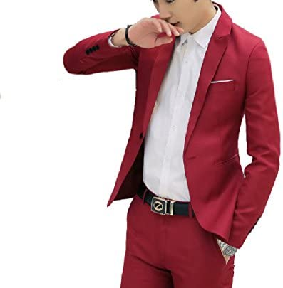 [해외]Abetteric Mens Pure Color Juniors Silm Casual Weekend Blazer Jacket Suits / Abetteric Mens Pure Color Juniors Silm Casual Weekend Blazer Jacket Suits