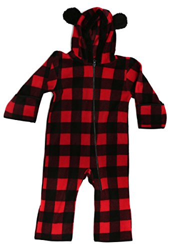 At The Buzzer 87000-BLKRED-0-3M Baby Boys Fleece Pram]()