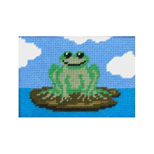 Freddie Frog Small Needlepoint kit For Children and Beginners - Frog Needlepoint