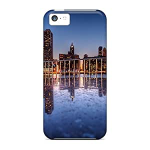 StarFisher Case Cover Protector Specially Made For Iphone 5c Wonderful Cityscape Reflection Hdr