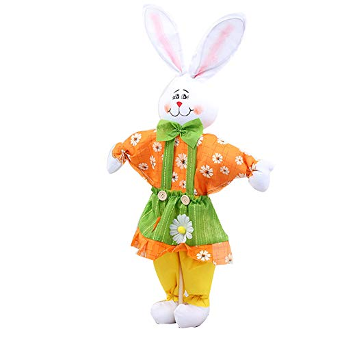 shengyuze Cute Handmade Rabbit Bunny Ornament Scarecrow Kids Party Gift Easter Decoration Rabbit Toys - Yellow ()
