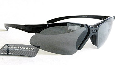 Polar Vision Mens Hi-Def POLARIZED Sport Sunglasses (1137) 100% UVA & UVB Protection-Shatter Resistant + FREE BONUS MICROSUEDE CLEANING - Sunglasses Polar Vision