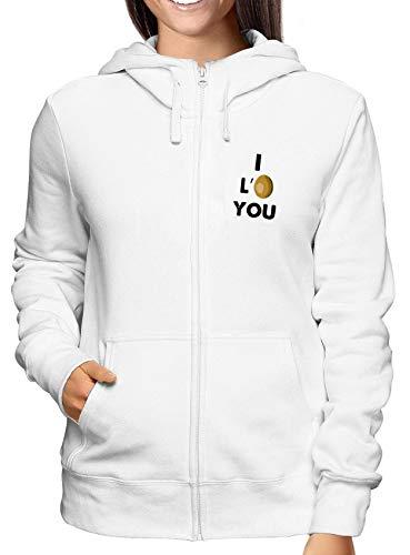 You Weiss Damen Tdm00114 I Zip Hoodie Love Sweatshirt 80ZnTvx8