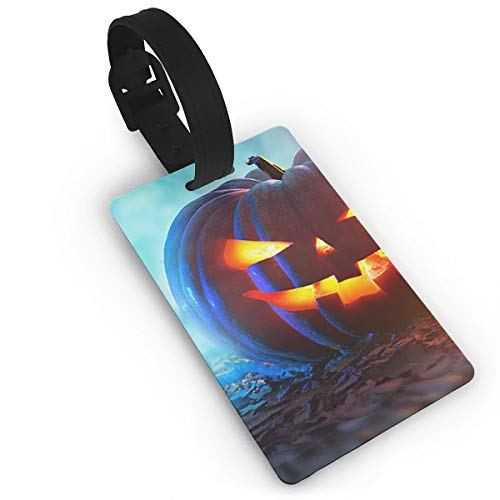 Halloween Pumpkins Luggage Tags, Travel Luggage Labels for Luggage Suitcases Bags,Business Card Holder Travel ID Bag Tag ()
