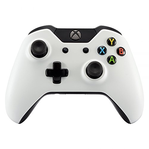 (eXtremeRate Matte Solid White Front Top Up Shell Case Faceplate for Xbox One Controller)