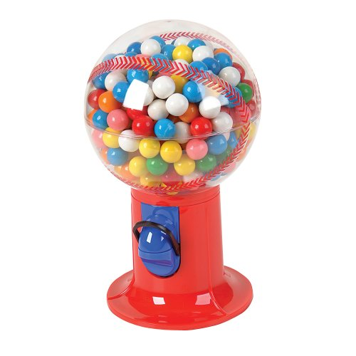 Baseball Candy Dispensers (Baseball Snack Candy and Gumball Dispenser (Gumball Machine)Colors may vary)