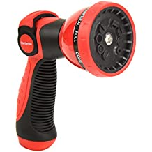 Garden Hose Nozzle Hand Sprayer - Heavy Duty Metal Watering Nozzle - High Pressure | Thumb Switch Flow Control Spray Attachment | Suitable for Car Wash, Cleaning, Watering Lawn and Garden