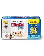 Fralda Turma da Monica Baby Giga M 90 Unidades, Turma da Mônica Baby, Azul, M