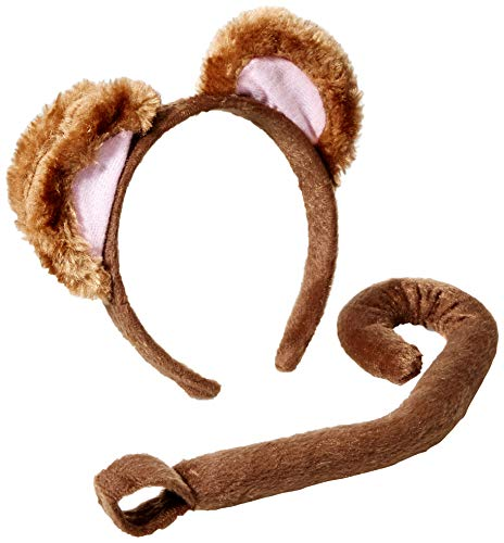 Monkey Costume Women (Forum Novelties Women's Playful Animals Monkey Costume Accessory Set, Multi, One)