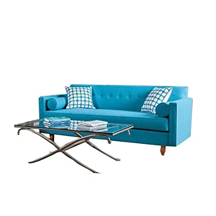 Amazon.com: Furniture of America SM8820-SF Genna Sofa, Sky ...