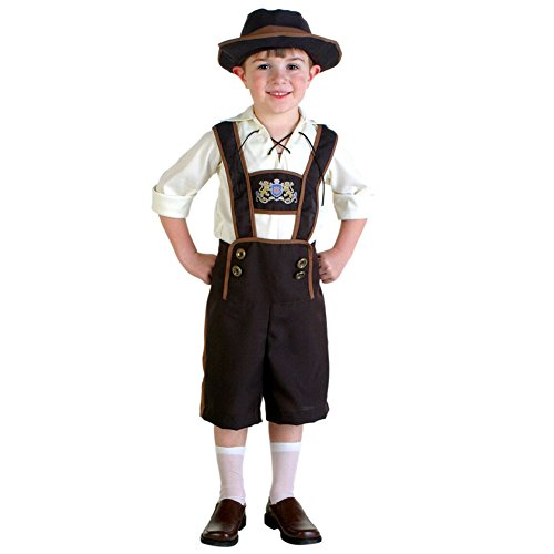 German Lederhosen Costumes (LSERVER Little Boy's German Bavarian Octoberfest Lederhosen Costume L)