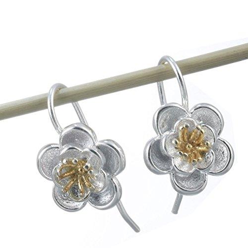 Boucles d'Oreilles Fleur Argent 925