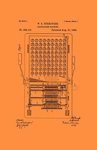 Póster original de Patentado con marco de Patentado, Calculadora Erkels Bestie de 28 x 43 cm, diseño clásico, PAPSSP134VO,...