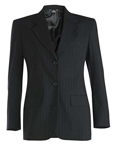Averill's Sharper Uniforms Women's Ladies Pinstripe Suit Jacket 10 Pin-Navy (Single Suit Wool Worsted Breasted)