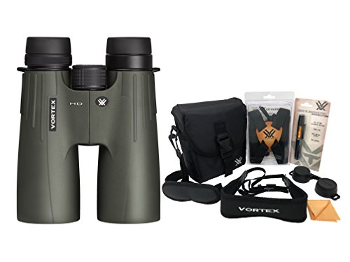 Vortex Viper HD 15x50 Roof Prism Binocular with Original Vortex Accessories Bundle (Lens Cleaning Pen, Lens Cloth, and Harness Strap)