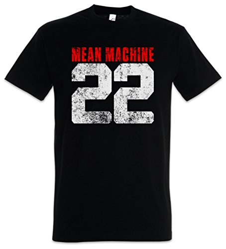 (Urban Backwoods Mean Machine 22 T-Shirt - The Longest Movie Martial Arts Fight Yard Black)