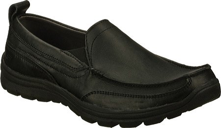 Skechers Men's Relaxed Fit Memory Foam Superior Gains Slip-On Skechers USA Footwear Mens