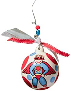 Glory Haus Super Boy Ball Ornament, 4 by 4-Inch