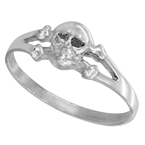 Sterling Silver Skull Crossbone sizes