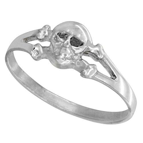Sterling Silver Skull Crossbone sizes