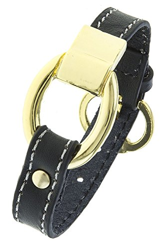 KARMAS CANVAS FAUX LEATHER BUCKLE BRACELET (Black) (Dior Buckle)