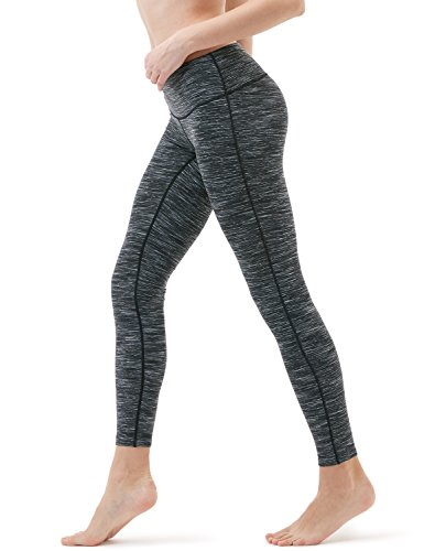 TM-FYP41-SDC_Medium Tesla Yoga Pants Mid-Waist Leggings w Hidden Pocket FYP41