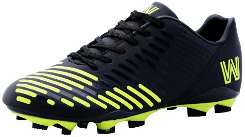 Copa Stadium Soccer Shoes, Cleat Black / Yellow (10.5)