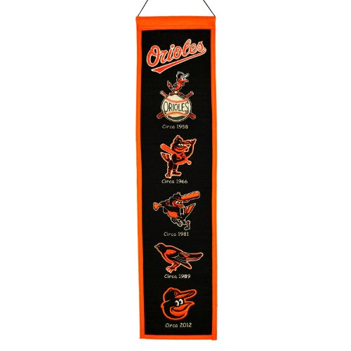 MLB Baltimore Orioles Heritage Banner Baltimore Orioles Mlb Wall