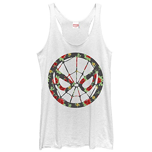 spider-man+tank+tops Products : Marvel Spider-Man Rose Print Womens Graphic Racerback Tank