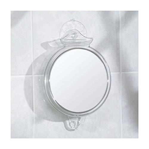 InterDesign Fog-Free Suction Shower Shaving, Fogless Mirror for Bathroom, Bath Tub, 8.25