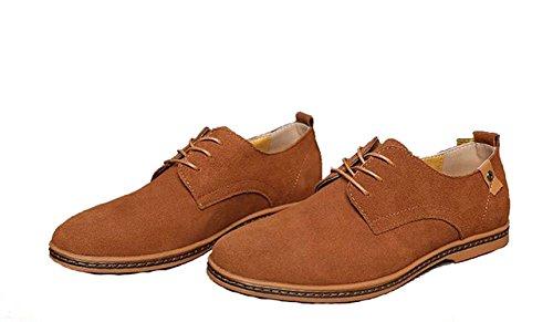 à chameau Loisir à Suédé de Chaussure couleur pour Travail AU L'Usure en Chaussure Homme Lacets Eté XIGUAFR Résistant Cuir Printemps ngOxHn