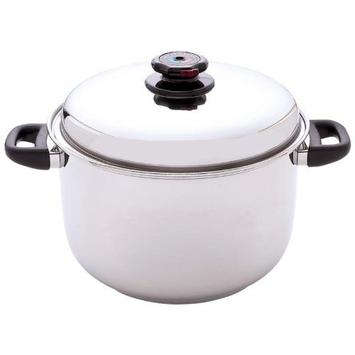 Steam Control™ 12qt 12-Element T304 Stainless Steel Stockpot Home Kitchen Furniture Decor