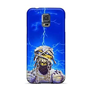 Protective Hard Phone Cover For Samsung Galaxy S5 With Unique Design Beautiful Iron Maiden Band Skin AlissaDubois